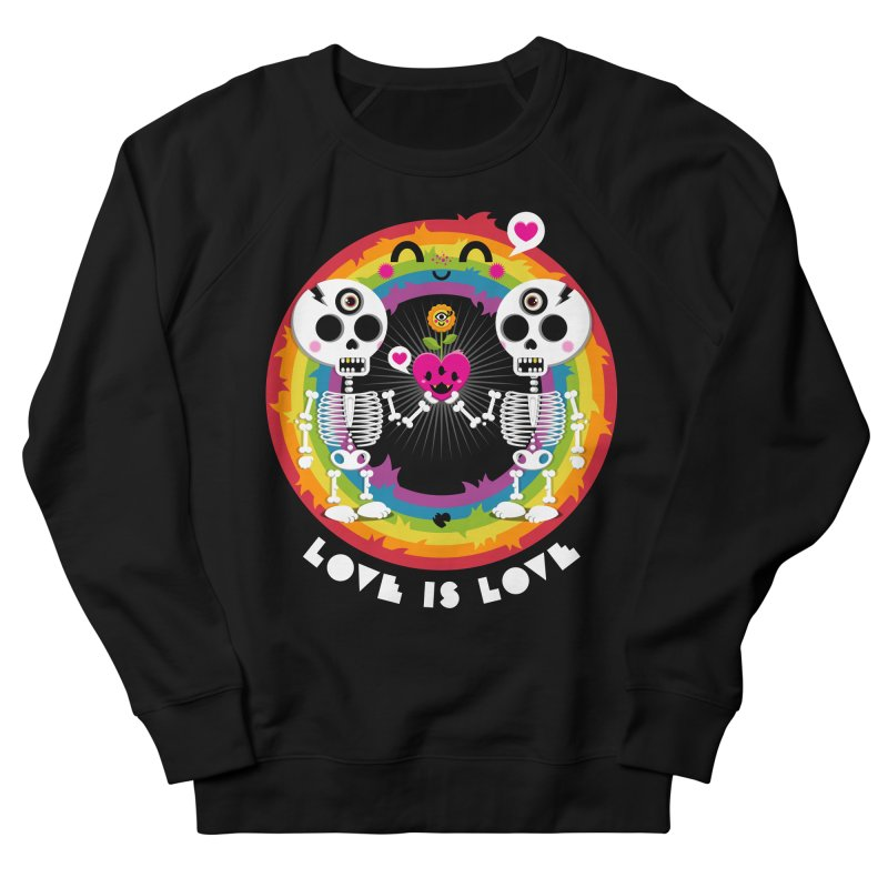 LOVE IS LOVE Men's French Terry Sweatshirt by theGHOSTHEART's artist shop