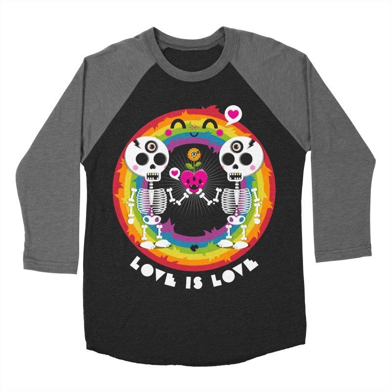 LOVE IS LOVE Men's Baseball Triblend Longsleeve T-Shirt by theGHOSTHEART's artist shop