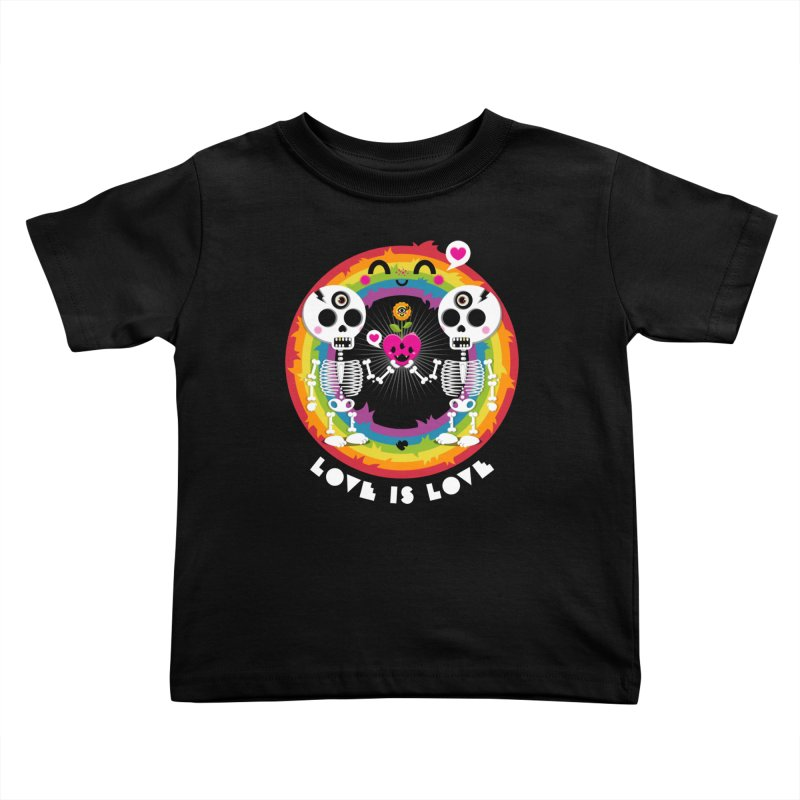 LOVE IS LOVE Kids Toddler T-Shirt by theGHOSTHEART's artist shop