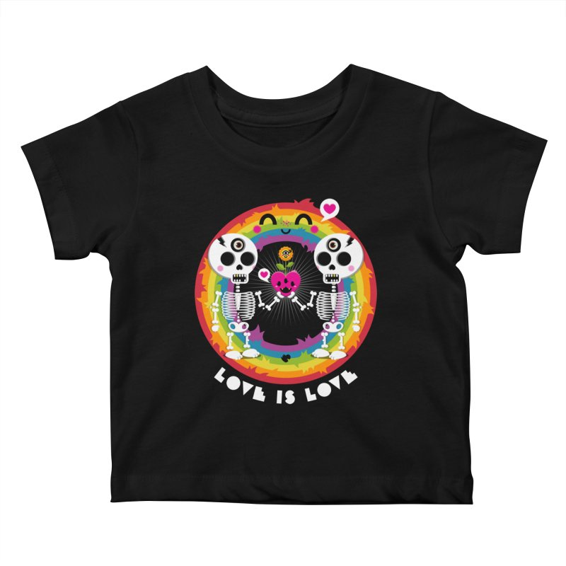LOVE IS LOVE Kids Baby T-Shirt by theGHOSTHEART's artist shop