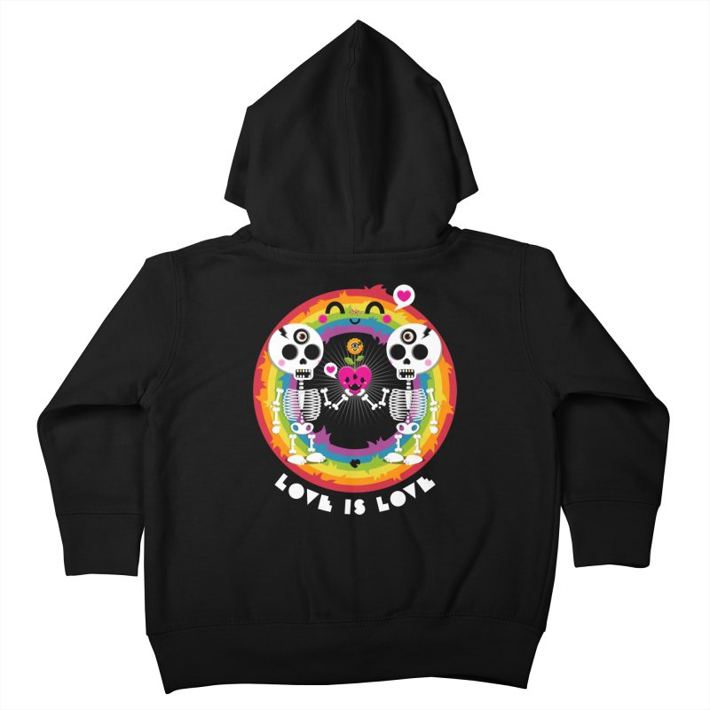 LOVE IS LOVE Kids Toddler Zip-Up Hoody by theGHOSTHEART's artist shop