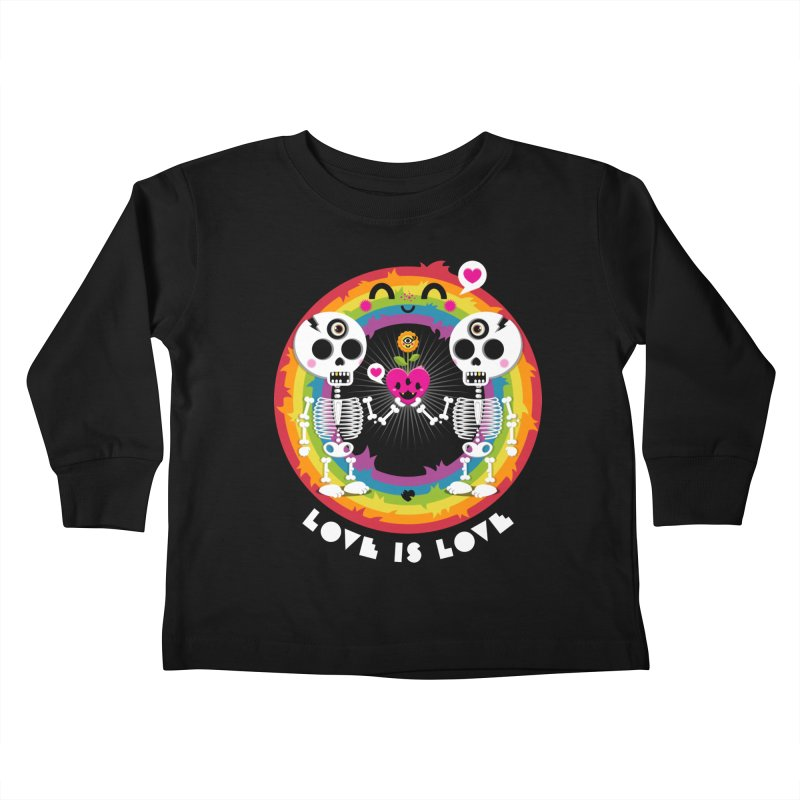 LOVE IS LOVE Kids Toddler Longsleeve T-Shirt by theGHOSTHEART's artist shop