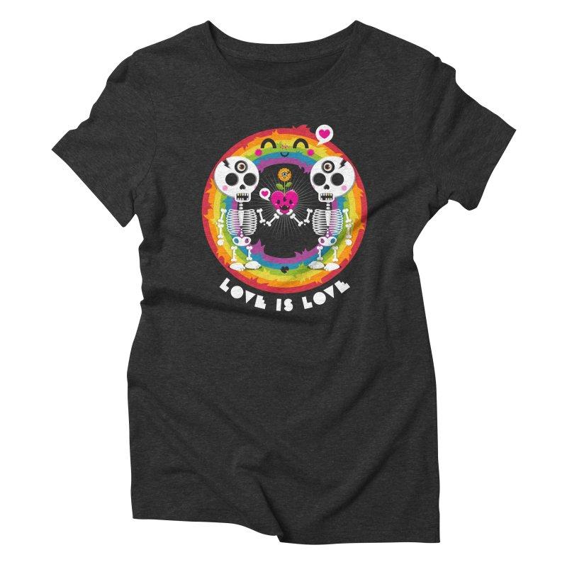 LOVE IS LOVE Women's Triblend T-Shirt by theGHOSTHEART's artist shop