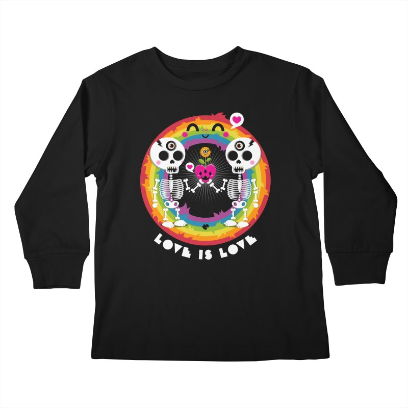LOVE IS LOVE Kids Longsleeve T-Shirt by theGHOSTHEART's artist shop