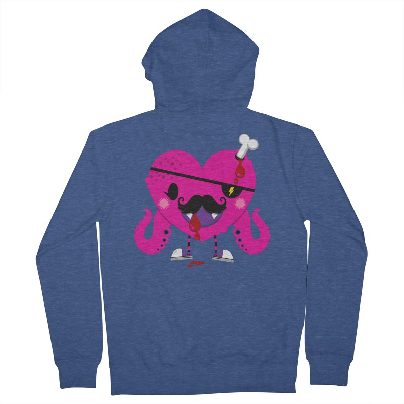 I HEART YOU! Women's French Terry Zip-Up Hoody by theGHOSTHEART's artist shop