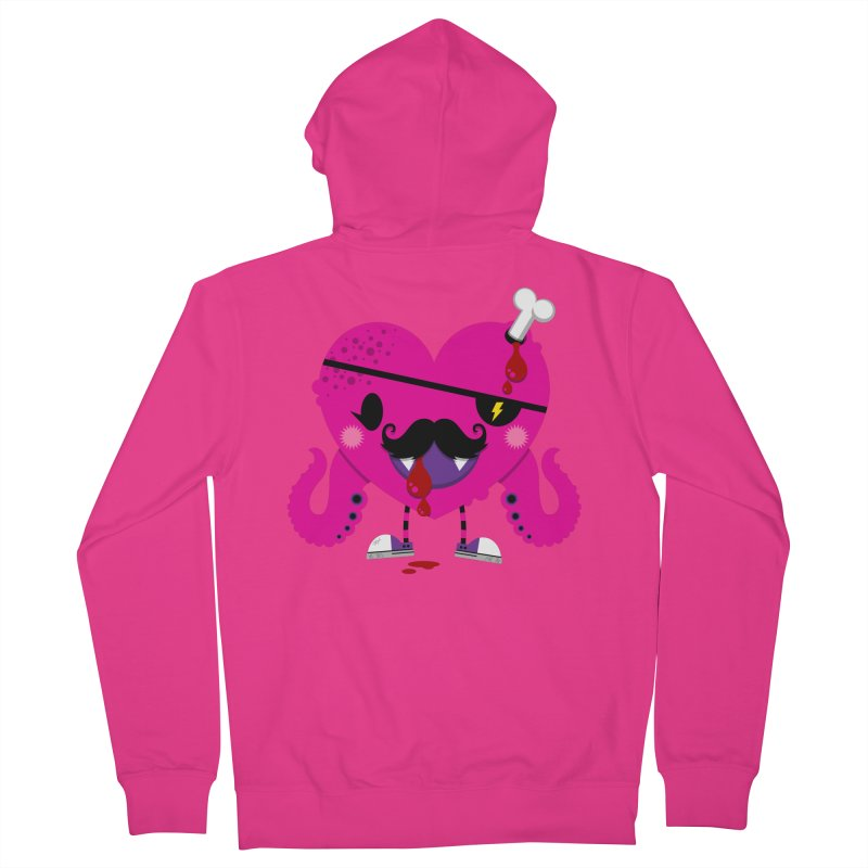 I HEART YOU! Men's French Terry Zip-Up Hoody by theGHOSTHEART's artist shop