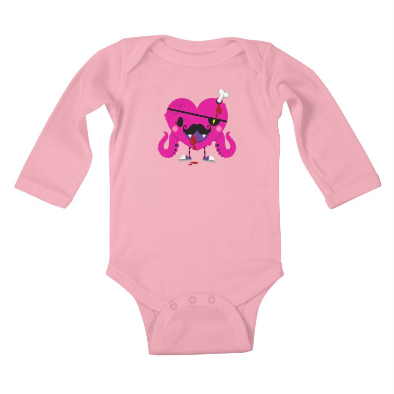 I HEART YOU! Kids Baby Longsleeve Bodysuit by theGHOSTHEART's artist shop