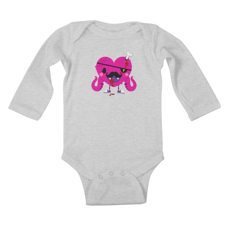 I HEART YOU! Kids Baby Longsleeve Bodysuit by theGHOSTHEART's artist shop