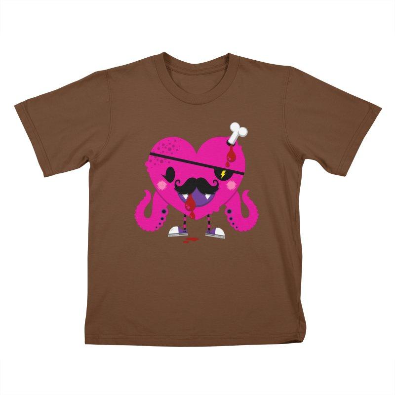 I HEART YOU! Kids T-Shirt by theGHOSTHEART's artist shop