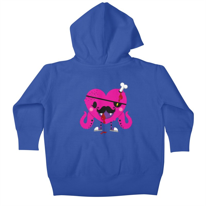 I HEART YOU! Kids Baby Zip-Up Hoody by theGHOSTHEART's artist shop