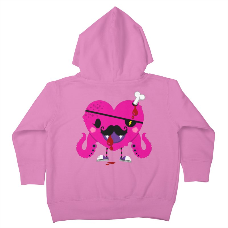 I HEART YOU! Kids Toddler Zip-Up Hoody by theGHOSTHEART's artist shop