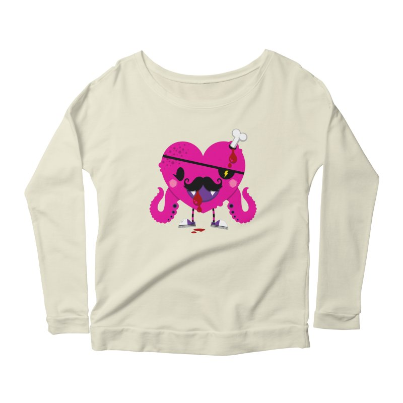 I HEART YOU! Women's Scoop Neck Longsleeve T-Shirt by theGHOSTHEART's artist shop