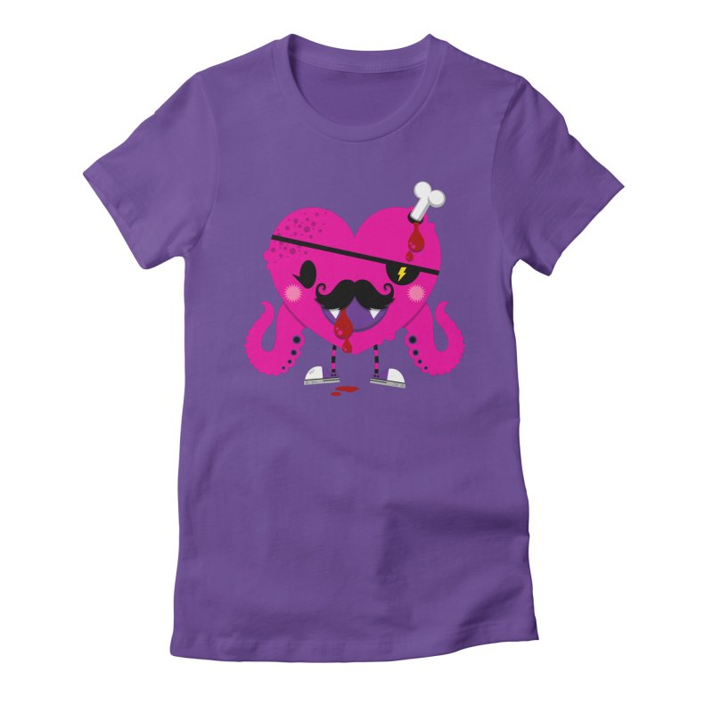 I HEART YOU! Women's Fitted T-Shirt by theGHOSTHEART's artist shop