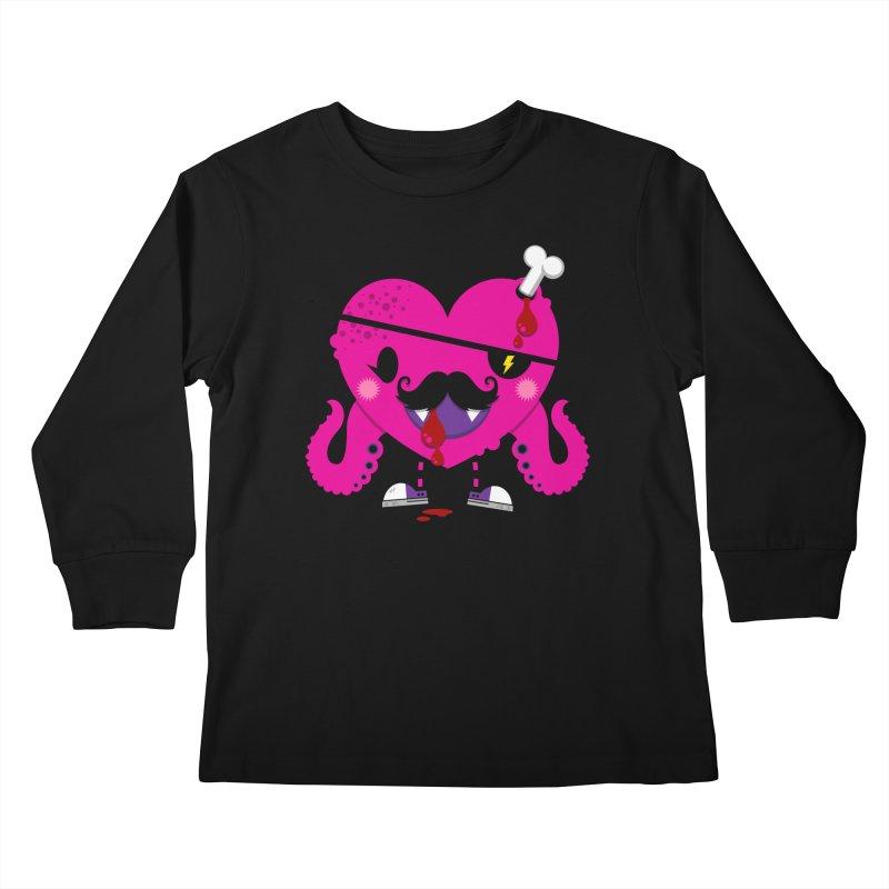 I HEART YOU! Kids Longsleeve T-Shirt by theGHOSTHEART's artist shop