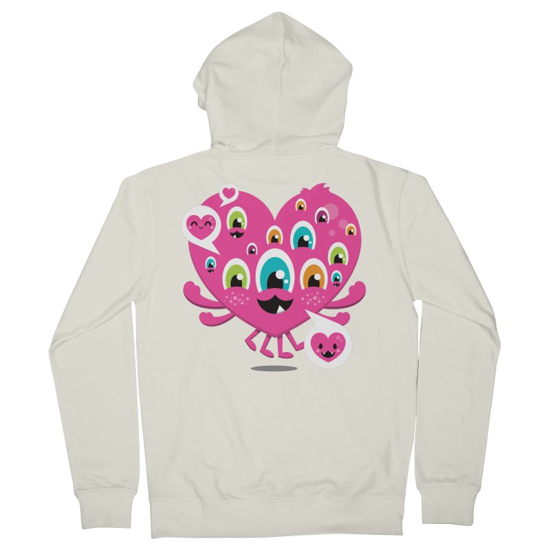 SEE AND SAY Women's French Terry Zip-Up Hoody by theGHOSTHEART's artist shop