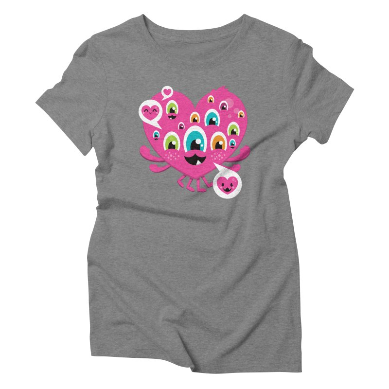 SEE AND SAY Women's Triblend T-Shirt by theGHOSTHEART's artist shop