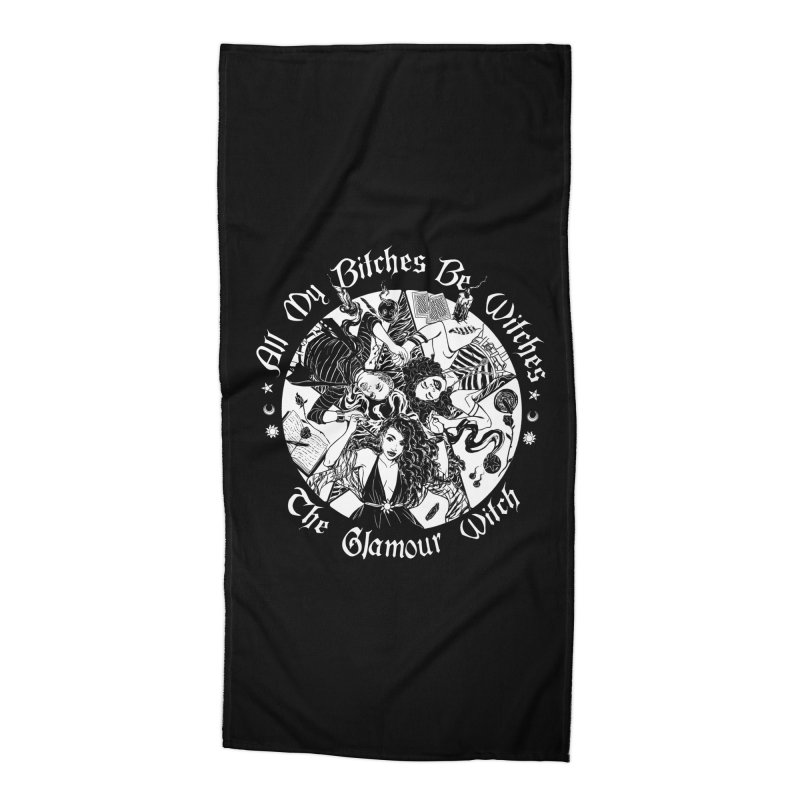 All My Witches Accessories Beach Towel by TheGlamourWitch's Artist Shop