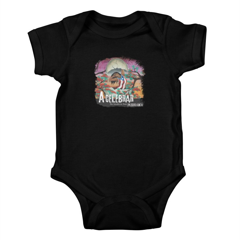 A Celebrar Apparel in Kids Baby Bodysuit Black by The Goodness Tour Artist Shop