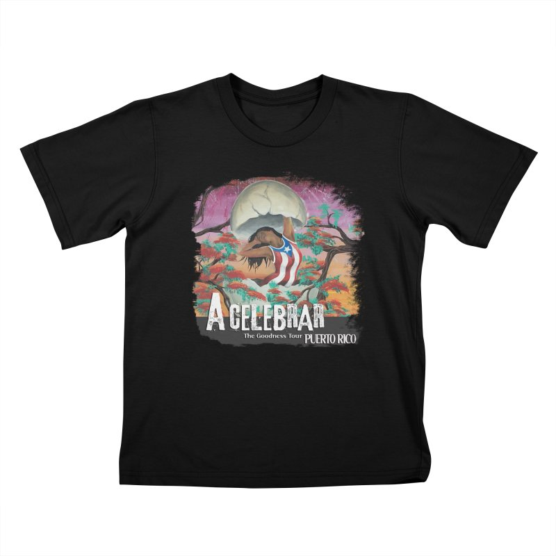 A Celebrar Apparel in Kids T-Shirt Black by The Goodness Tour Artist Shop