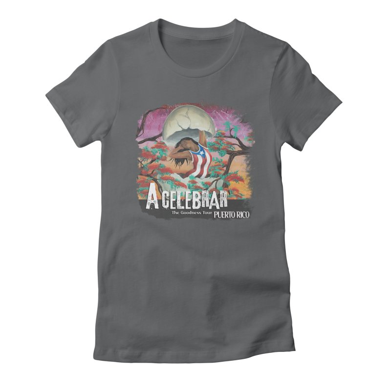 A Celebrar Apparel in Women's Fitted T-Shirt Heavy Metal by The Goodness Tour Artist Shop