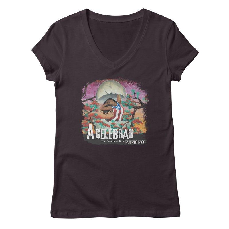 A Celebrar Apparel Women's V-Neck by The Goodness Tour Artist Shop