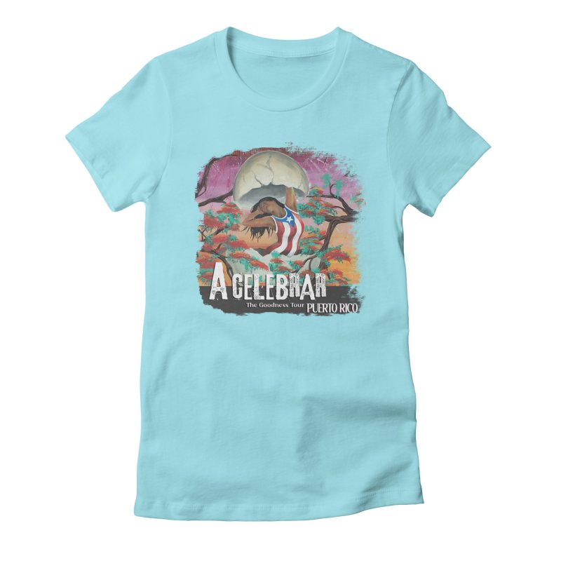 A Celebrar Apparel Women's Fitted T-Shirt by The Goodness Tour Artist Shop
