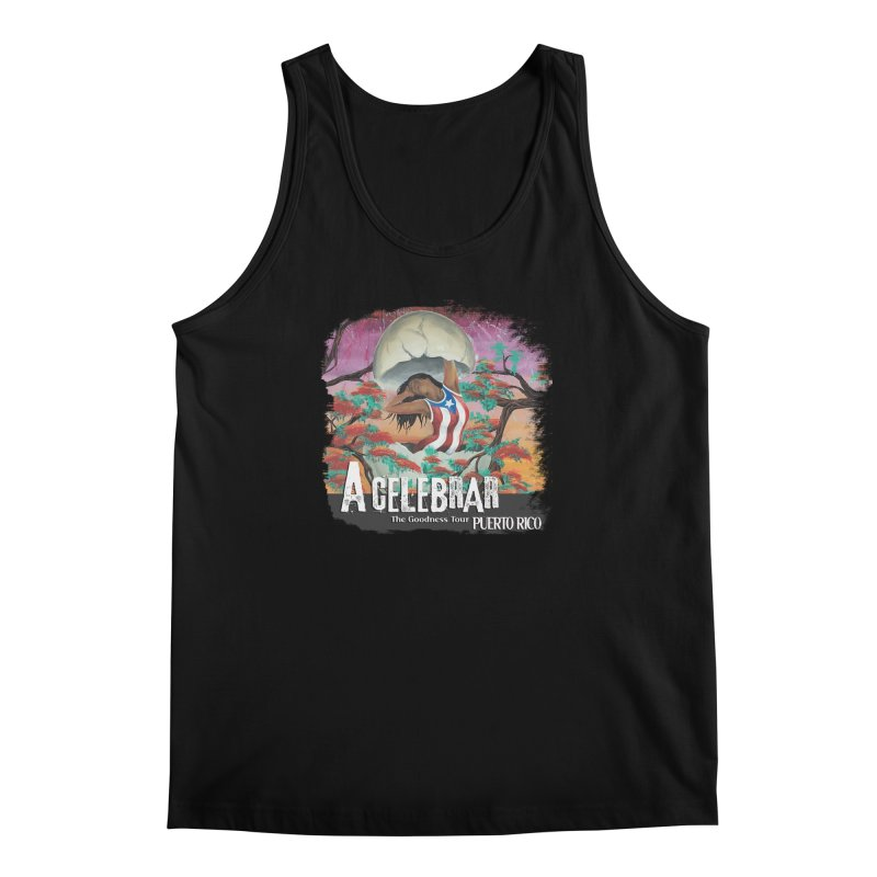 A Celebrar Apparel in Men's Regular Tank Black by The Goodness Tour Artist Shop