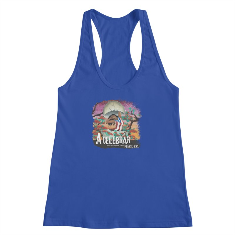 A Celebrar Apparel Women's Racerback Tank by The Goodness Tour Artist Shop