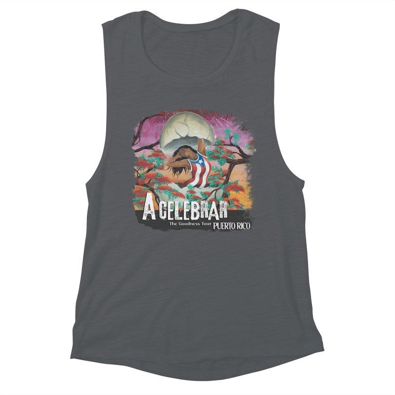 A Celebrar Apparel Women's Muscle Tank by The Goodness Tour Artist Shop