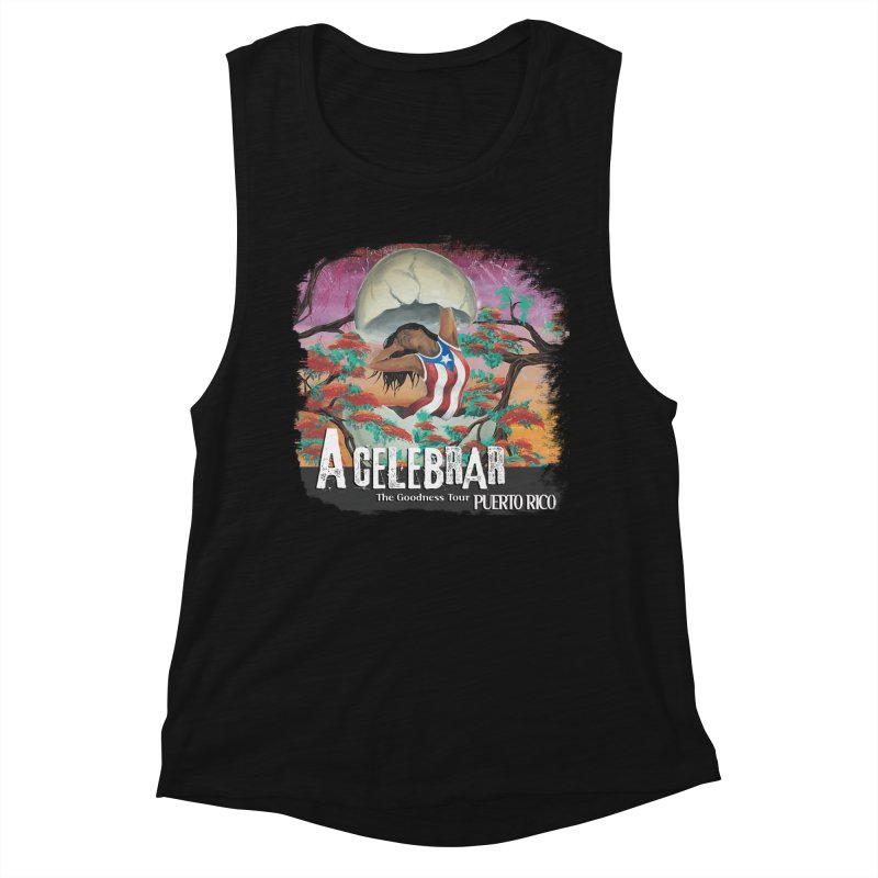 A Celebrar Apparel Women's Muscle Tank by The Goodness Tour Artist Shop