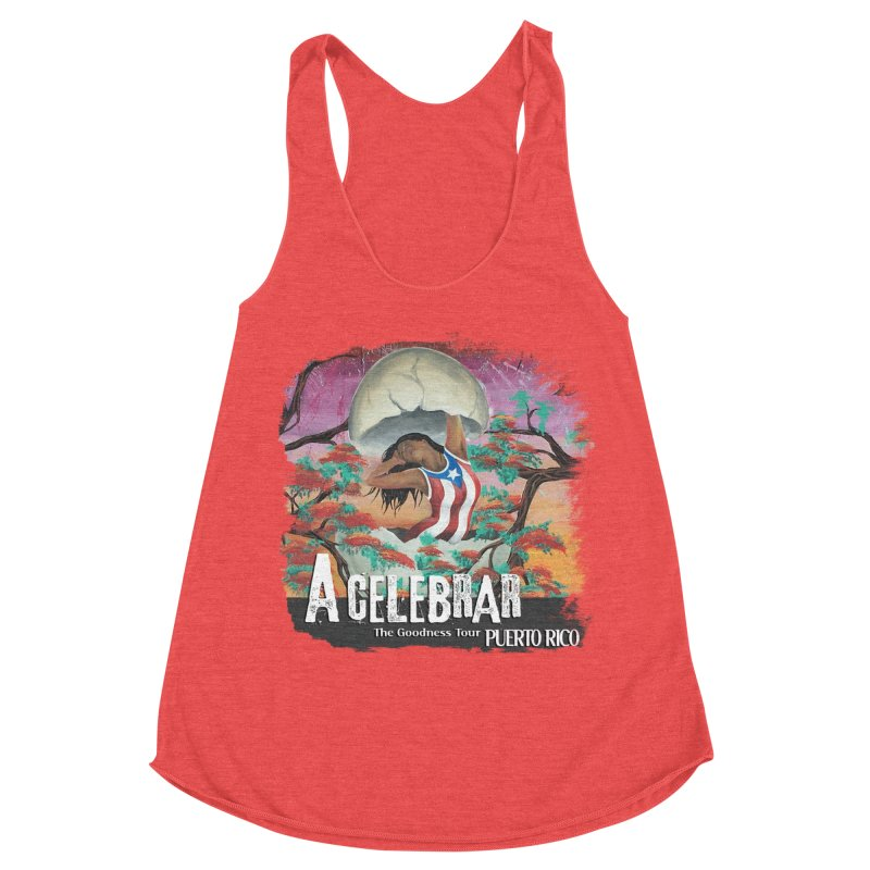 A Celebrar Apparel Women's Racerback Triblend Tank by The Goodness Tour Artist Shop