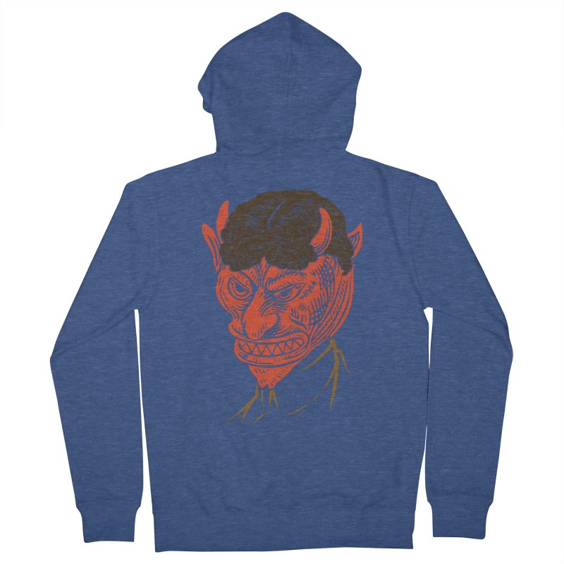 Hell Toupée Women's French Terry Zip-Up Hoody by Chick & Owl Artist Shop