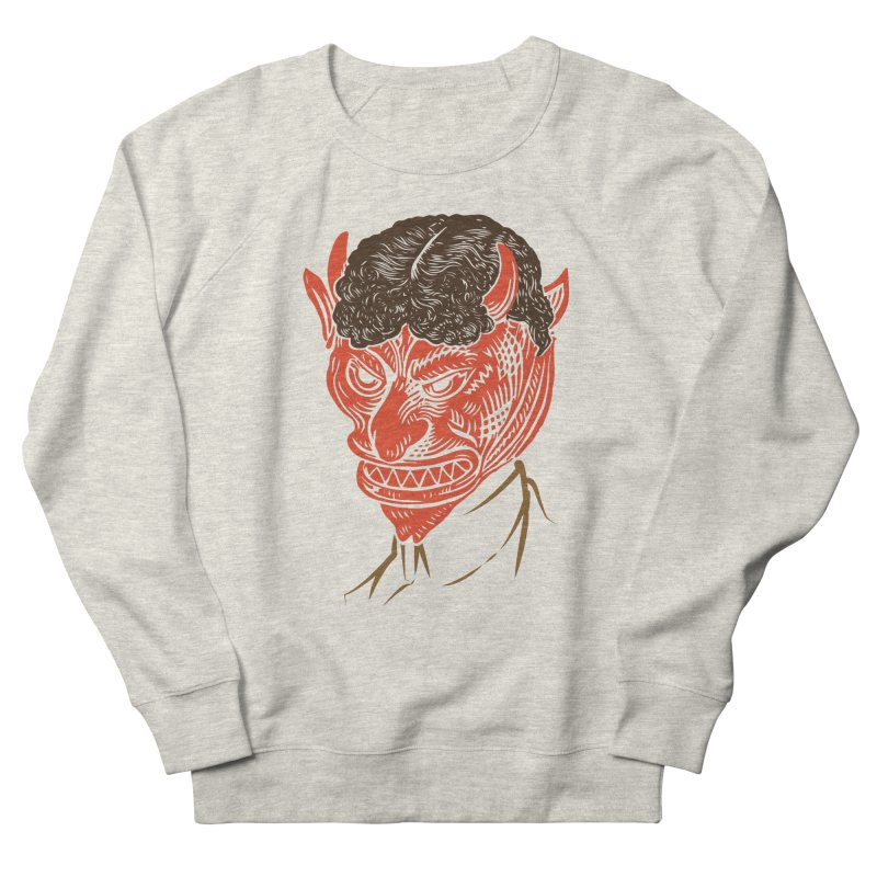 Hell Toupée Men's French Terry Sweatshirt by Chick & Owl Artist Shop