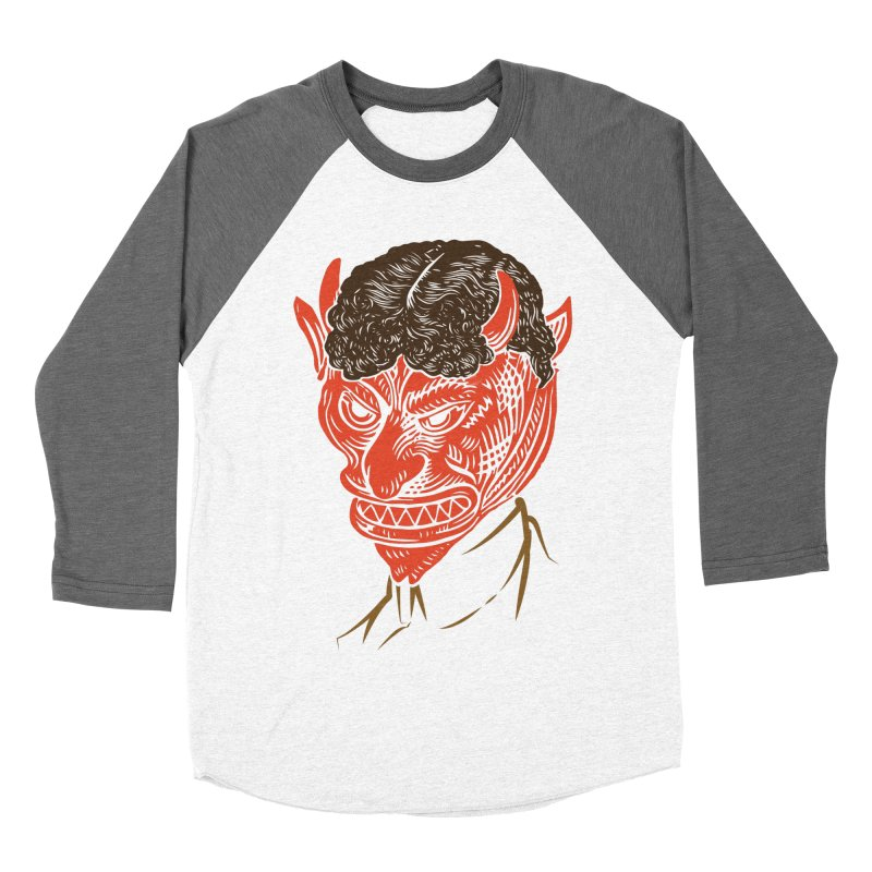Hell Toupée Men's Baseball Triblend Longsleeve T-Shirt by Chick & Owl Artist Shop