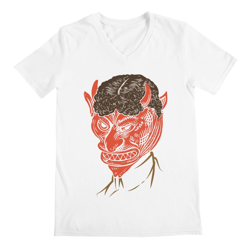 Hell Toupée Men's V-Neck by Chick & Owl Artist Shop