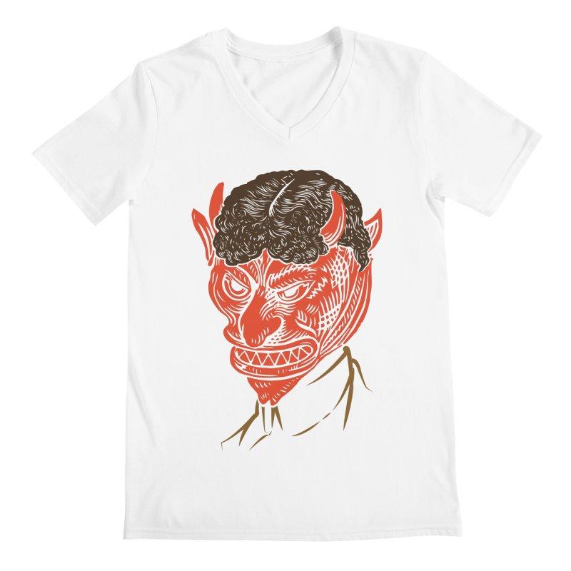 Hell Toupée Men's Regular V-Neck by Chick & Owl Artist Shop