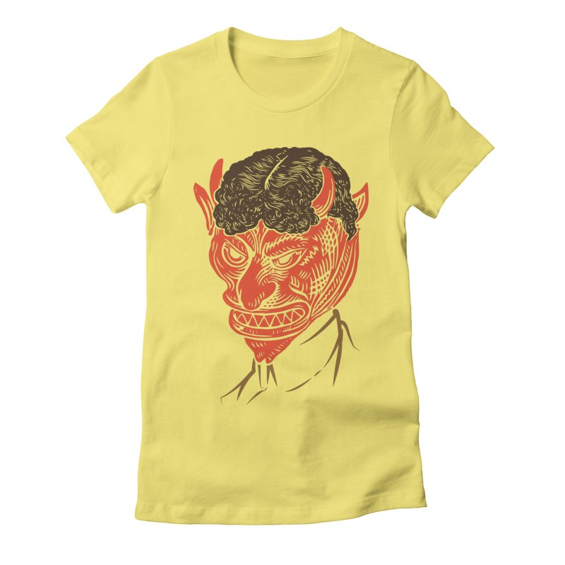 Hell Toupée Women's Fitted T-Shirt by Chick & Owl Artist Shop