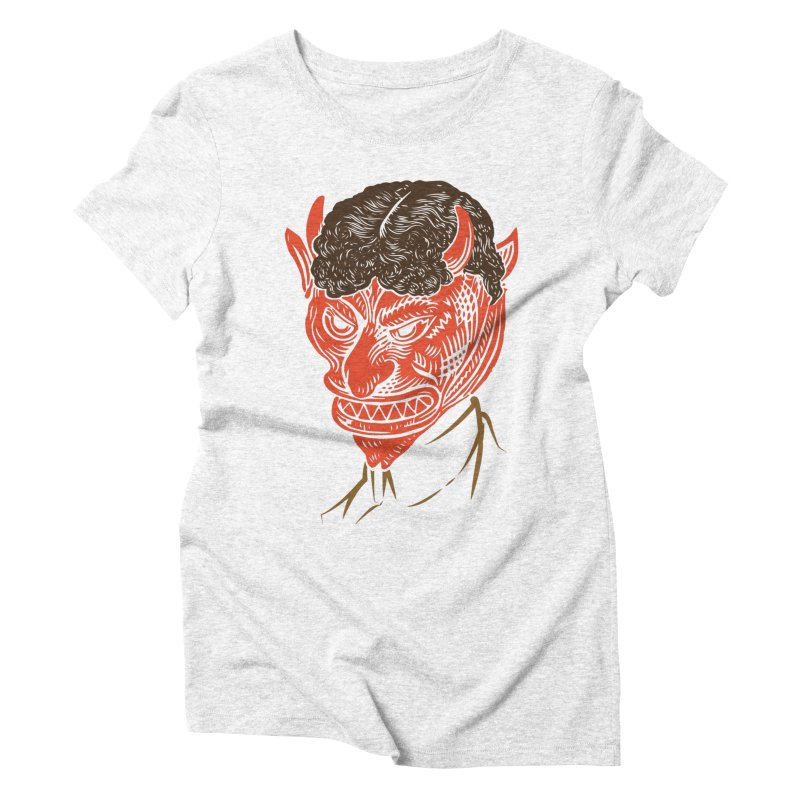 Hell Toupée Women's Triblend T-shirt by Chick & Owl Artist Shop