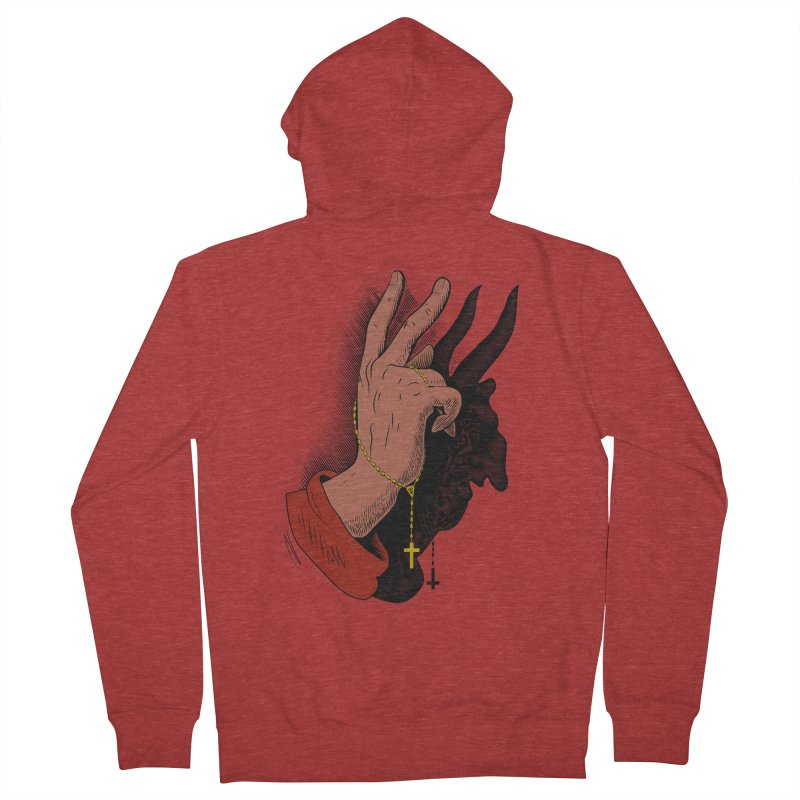 The Exorcist Men's French Terry Zip-Up Hoody by Chick & Owl Artist Shop