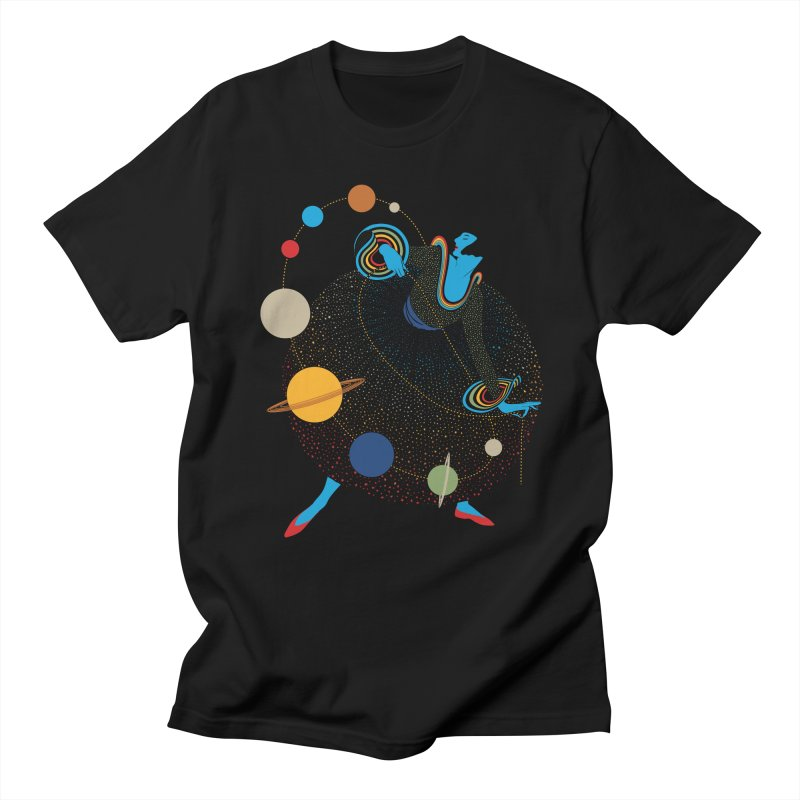 Mademoiselle Galaxy Men's Regular T-Shirt by Chick & Owl Artist Shop