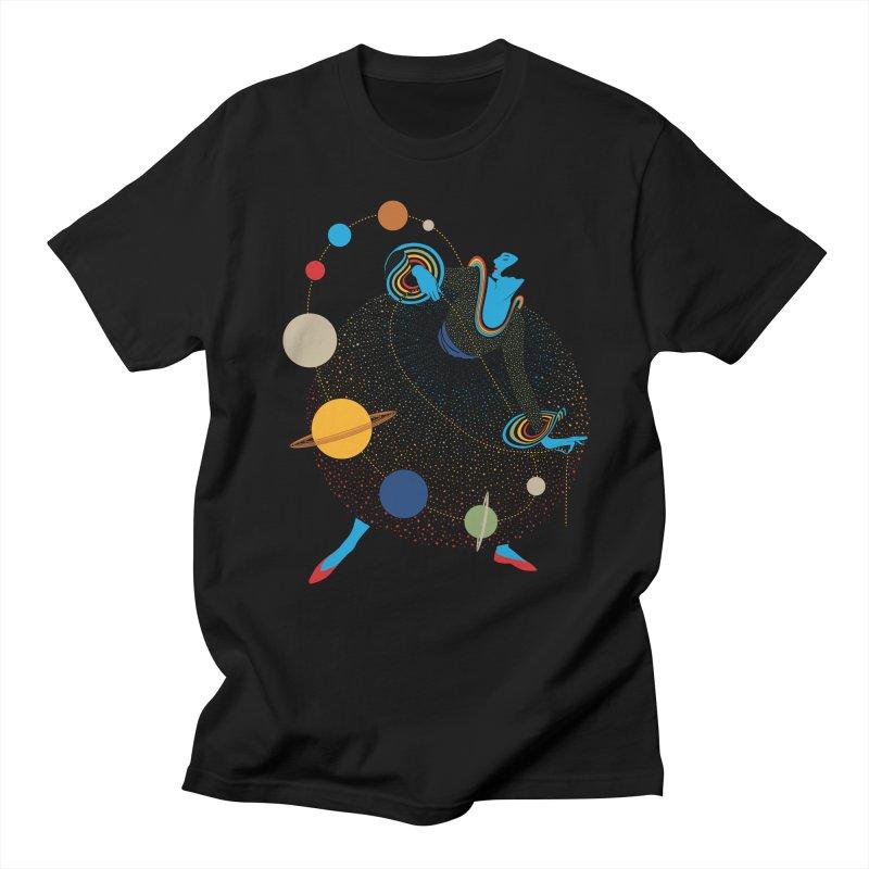 Mademoiselle Galaxy Men's T-shirt by Chick & Owl Artist Shop