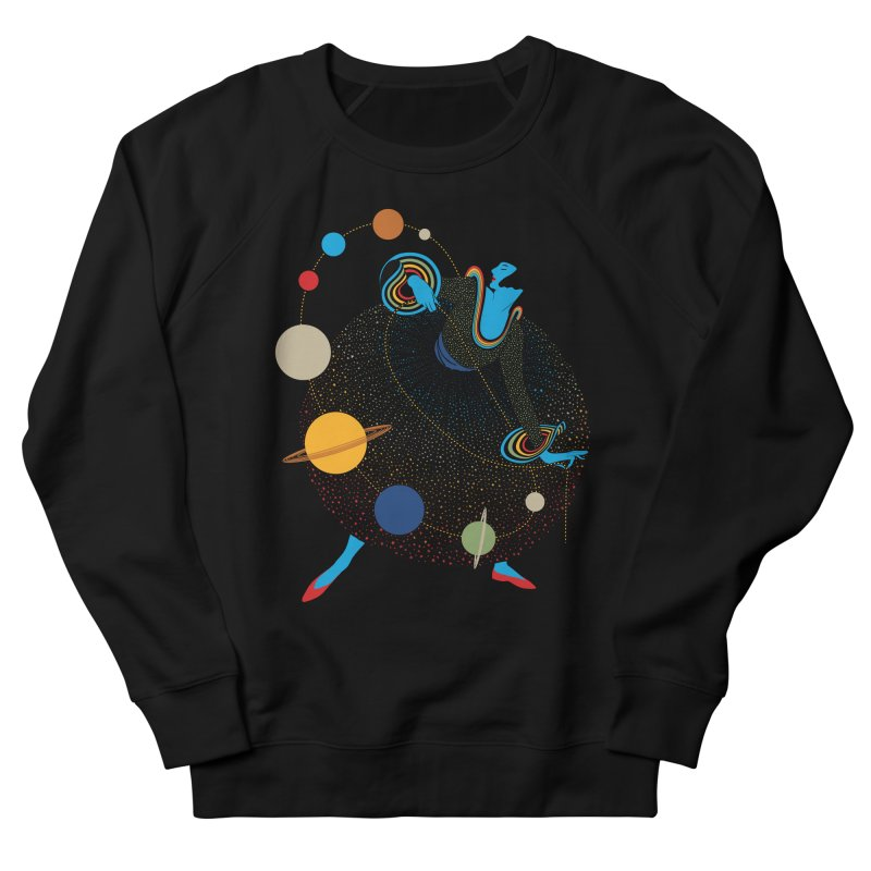 Mademoiselle Galaxy Women's French Terry Sweatshirt by Chick & Owl Artist Shop
