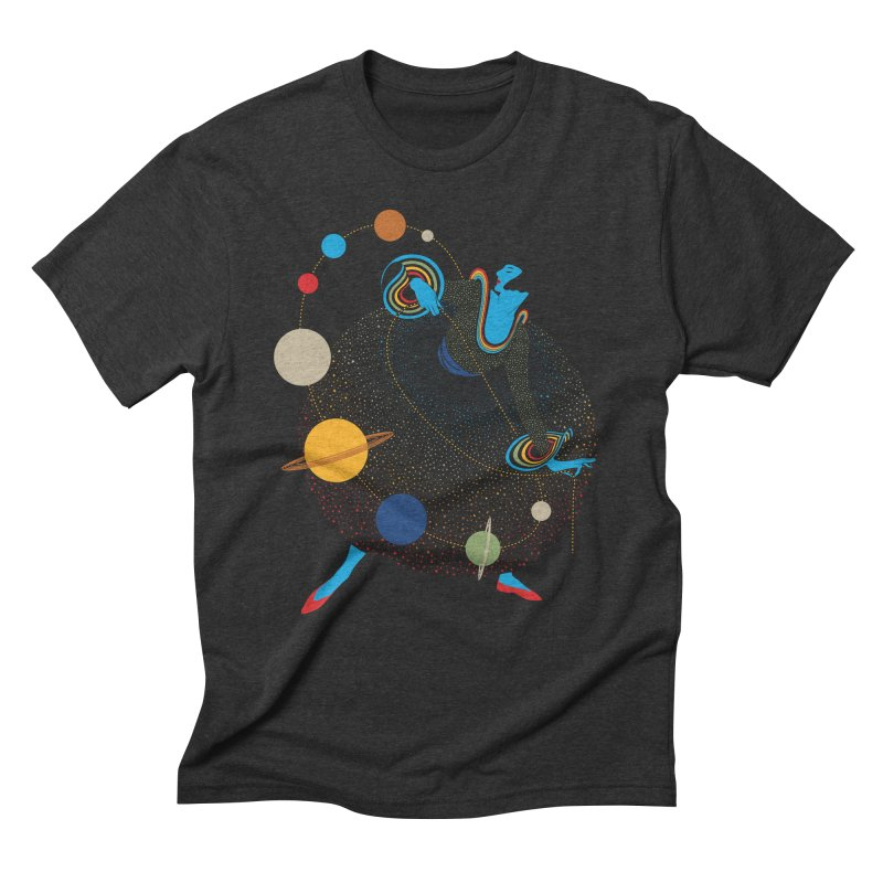 Mademoiselle Galaxy Men's Triblend T-Shirt by Chick & Owl Artist Shop
