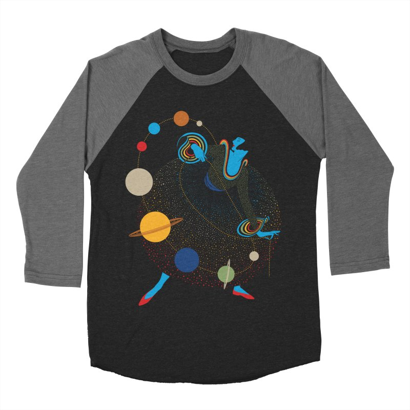 Mademoiselle Galaxy Women's Baseball Triblend Longsleeve T-Shirt by Chick & Owl Artist Shop
