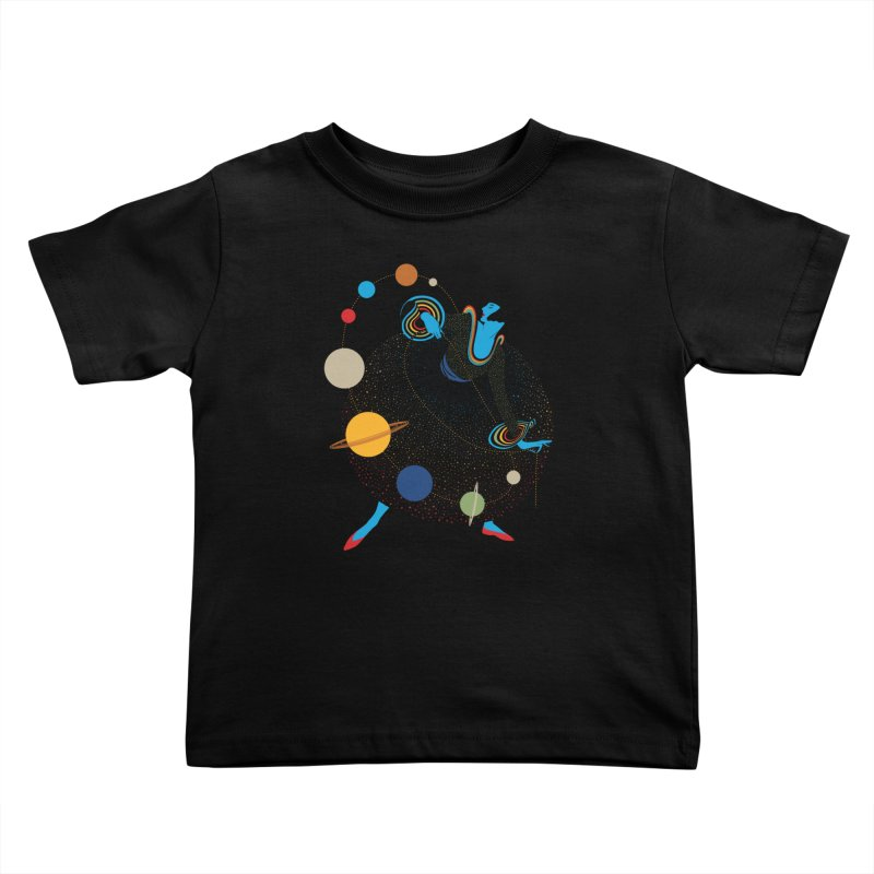 Mademoiselle Galaxy Kids Toddler T-Shirt by Chick & Owl Artist Shop