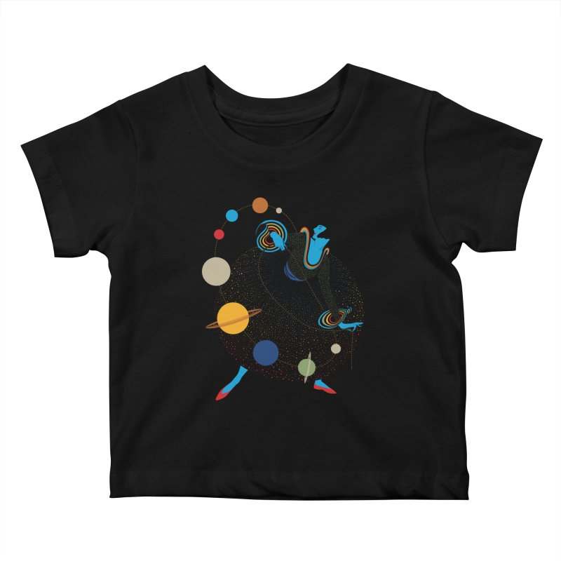 Mademoiselle Galaxy Kids Baby T-Shirt by Chick & Owl Artist Shop