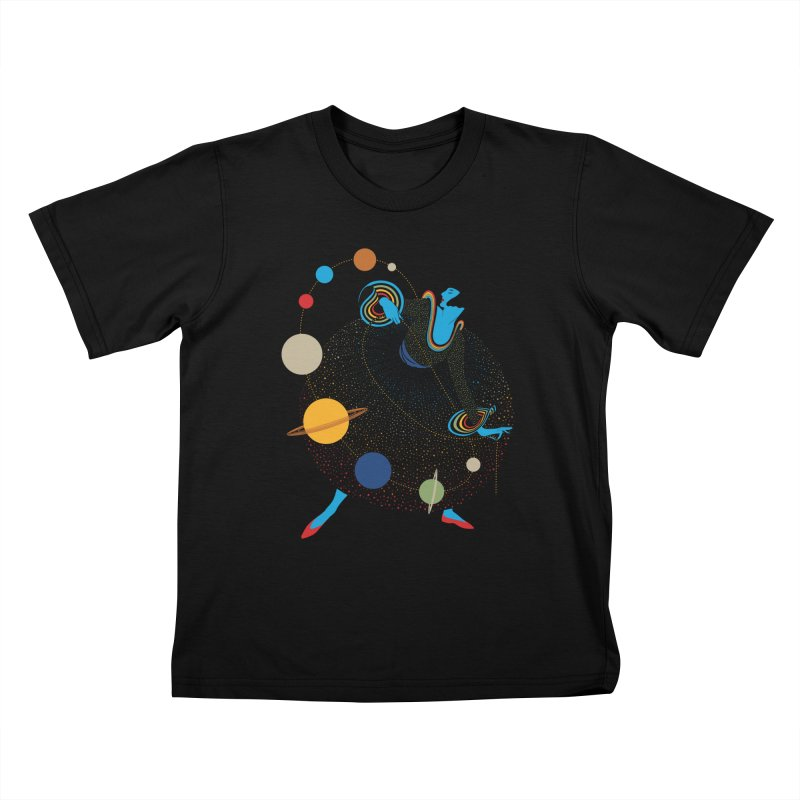 Mademoiselle Galaxy Kids T-Shirt by Chick & Owl Artist Shop