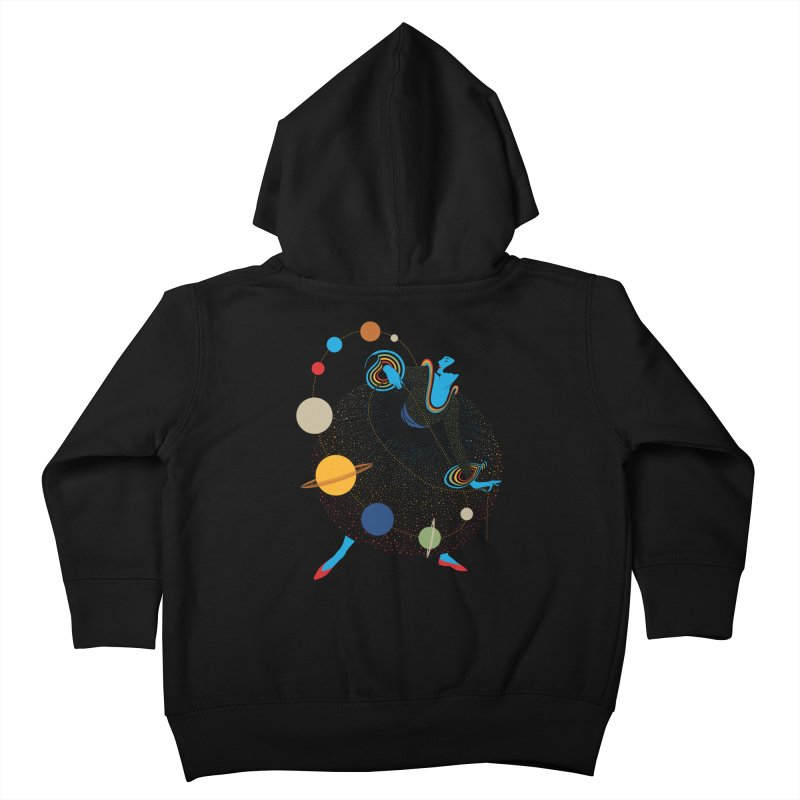 Mademoiselle Galaxy Kids Toddler Zip-Up Hoody by Chick & Owl Artist Shop