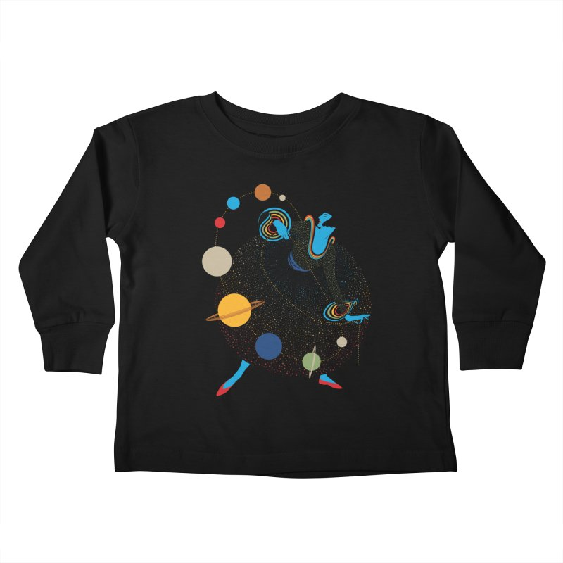 Mademoiselle Galaxy Kids Toddler Longsleeve T-Shirt by Chick & Owl Artist Shop