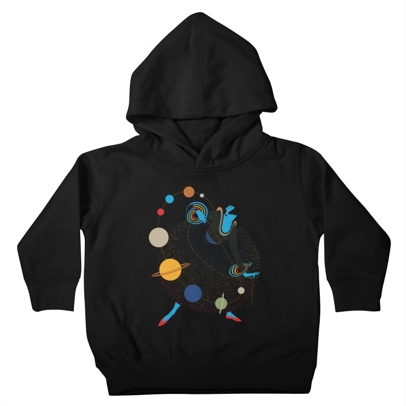 Mademoiselle Galaxy Kids Toddler Pullover Hoody by Chick & Owl Artist Shop